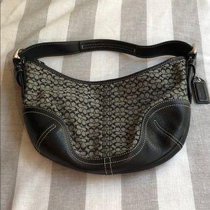 Coach black hobo purse bag